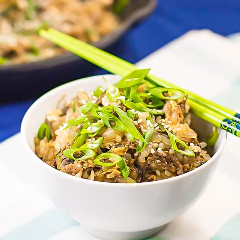 Keto Fried Rice with Shredded Beef