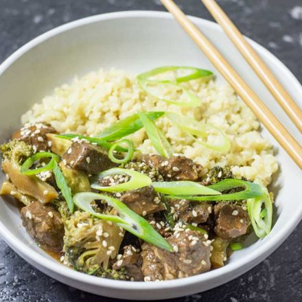 Keto Chinese Beef and Broccoli - Slow Cooker Recipe