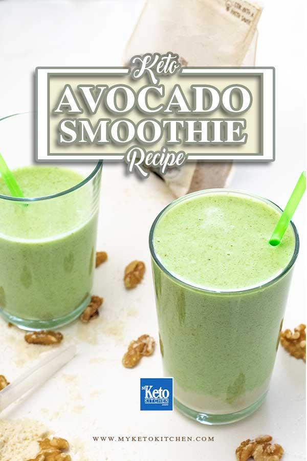 Keto Avocado Smoothie - Peanut Butter, Almond Milk, Walnuts