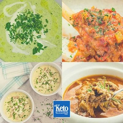 """Keto Winter Recipes – """"Hearty Low-Carb Comfort Food"""" – EASY Soups, Broth & Stews"""