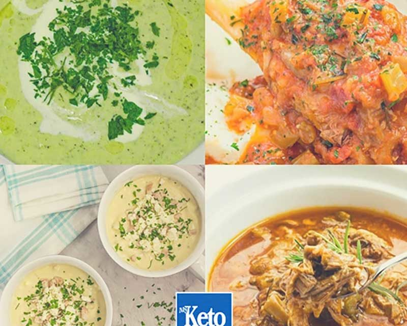"Keto Winter Recipes – ""Hearty Low-Carb Comfort Food"" – EASY Soups, Broth & Stews"