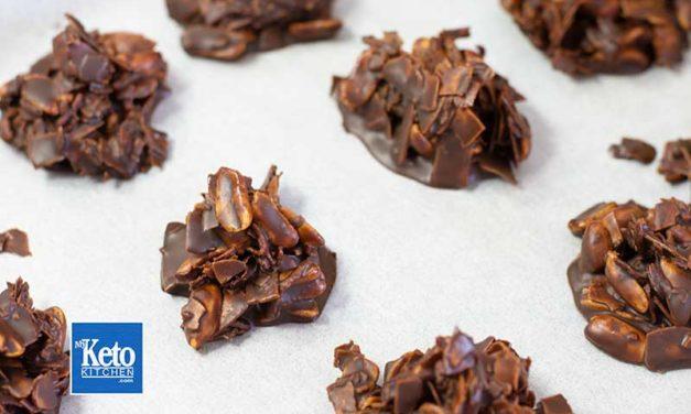 """Keto Haystacks Recipe – """"Coconut Chocolate""""- No Bake & EASY to Make!"""