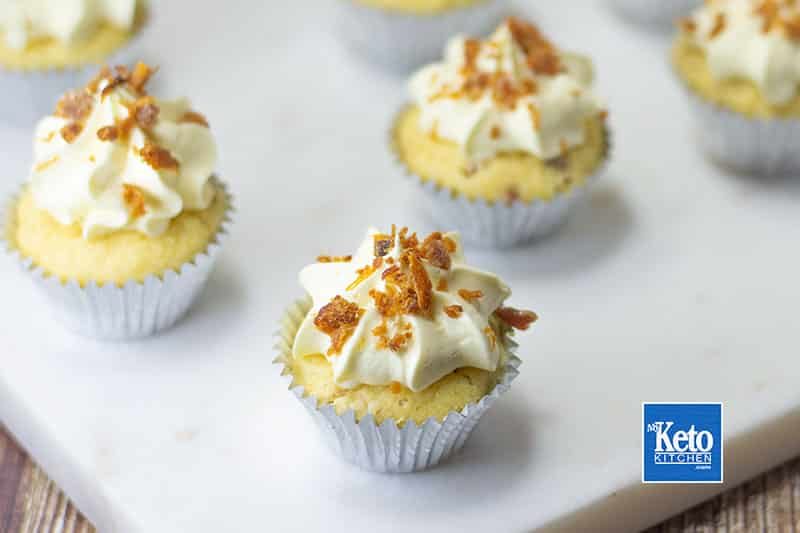 How to make low-carb keto maple bacon cupcakes