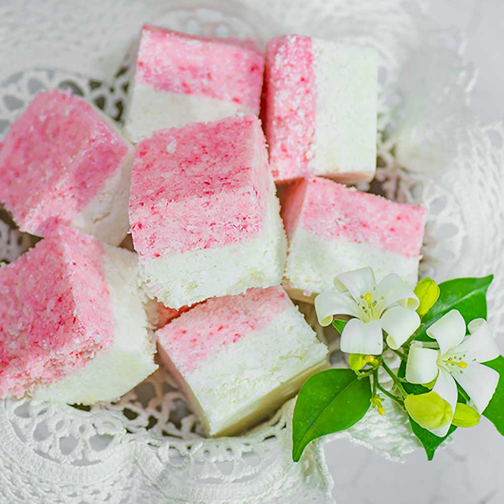 Keto Candy Coconut Ice Snack Recipe