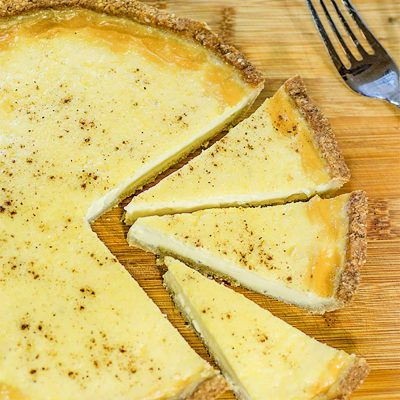 Keto Custard Pie / Tart Recipe with Low Carb Crust – Creamy & Delicious