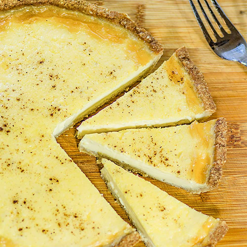 Keto Custard Pie Tart in Pieces