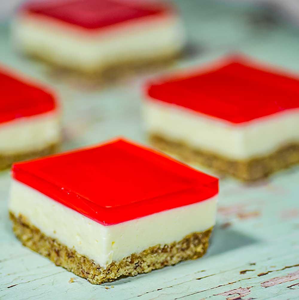 How to make jelly slice keto dessert