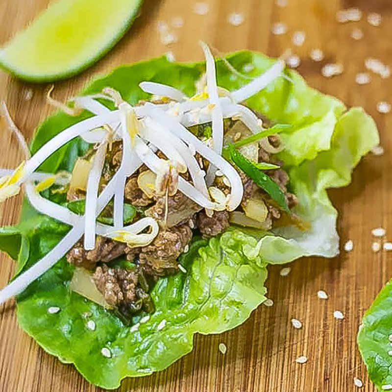 Keto San Choy Bau on a plate