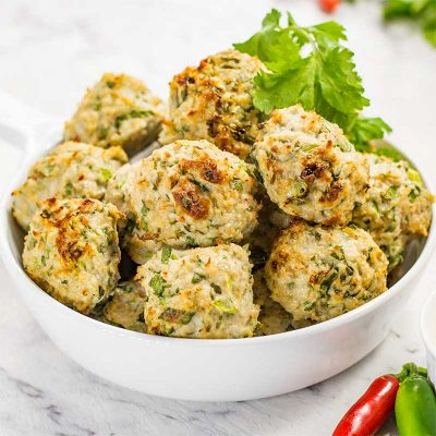 Keto Thai Chicken Meatballs Recipe – With Low-Carb Dipping Sauce
