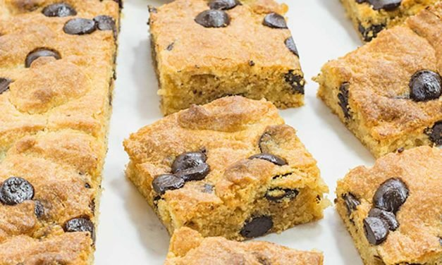 "Keto Blondies Recipe – ""Peanut Butter Choc Chip Brownies"" – Easy To Make!"