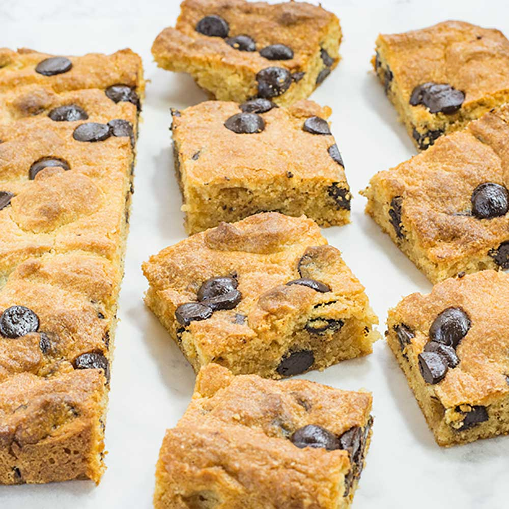 Keto Blondies Chocolate Chip Peanut Butter Brownies Recipe