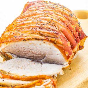 Keto Roast Pork Leg With Crackling Recipe