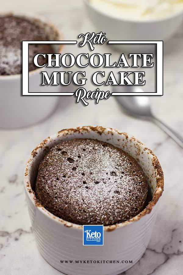 Low-Carb Chocolate Mug Cake - Keto friendly and Gluten Free!