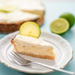A slice of Key Lime Pie on a plate