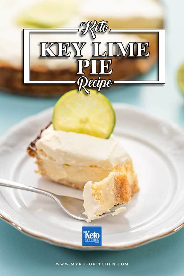 A slice of Key Lime Pie on a plate