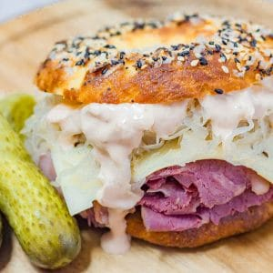 Keto Reuben Bagel Recipe