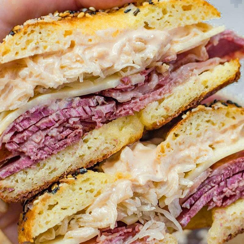 Keto Reuben Bagel Sandwich