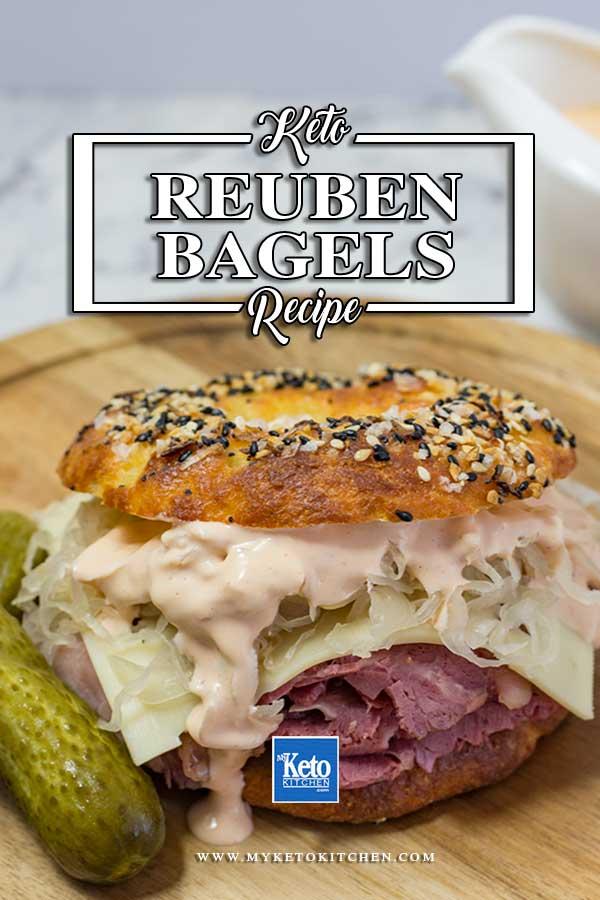Low Carb Reuben Bagel Sandwich