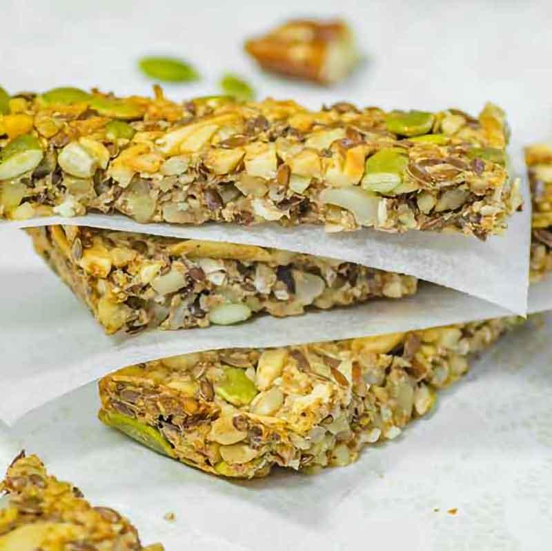 Keto Granola Bar Snack recipe