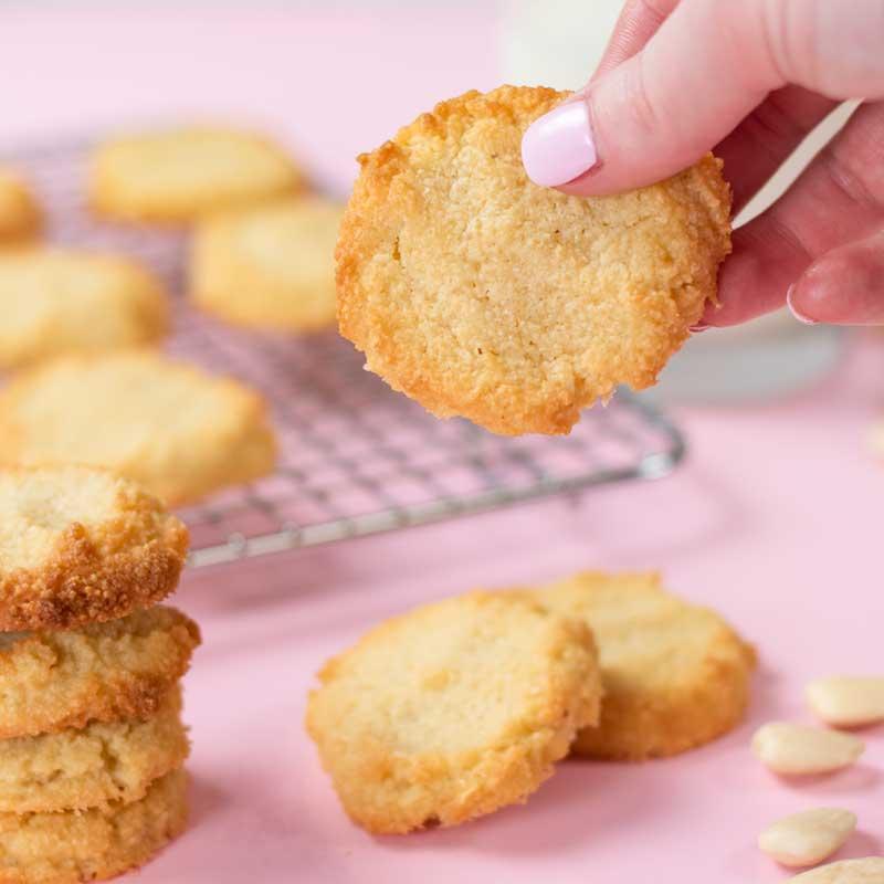 How to make Keto Vanilla Shortbread Cookies