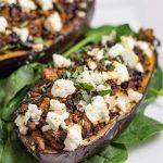 Keto Lamb Stuffed Eggplant