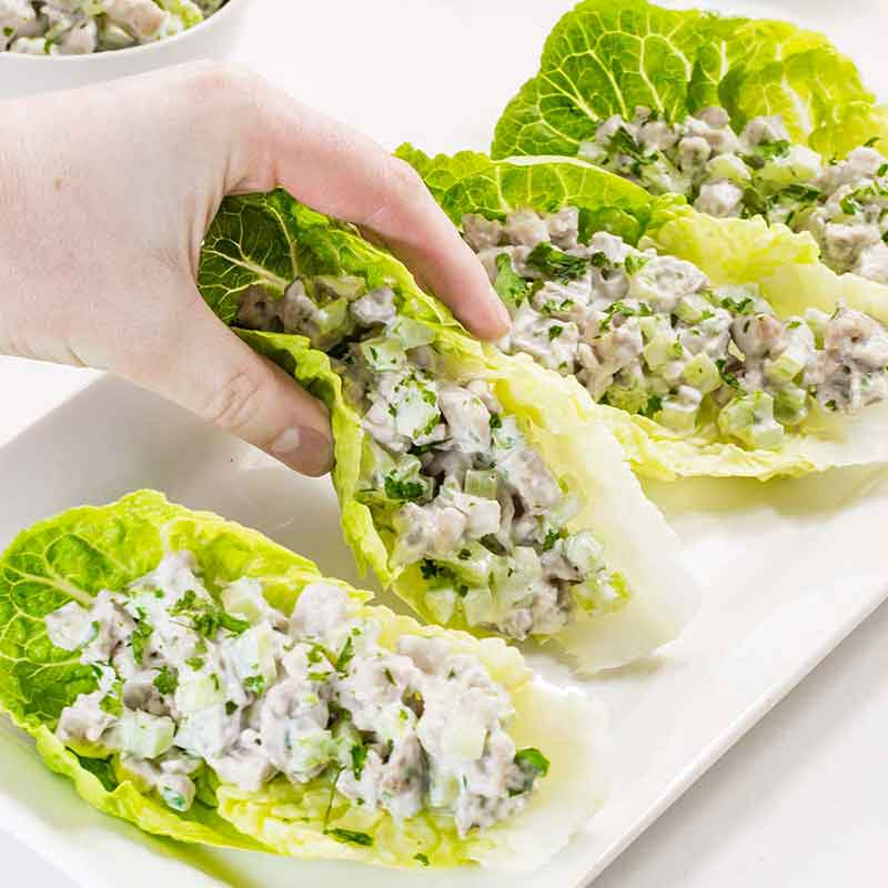 Keto Chicken Salad Wraps Recipe