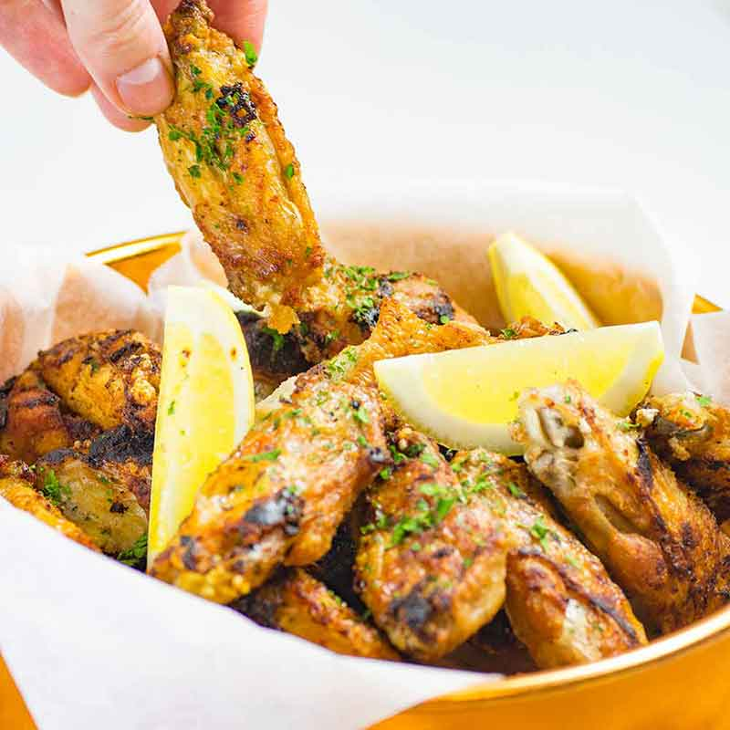 Keto Garlic Chicken WIngs