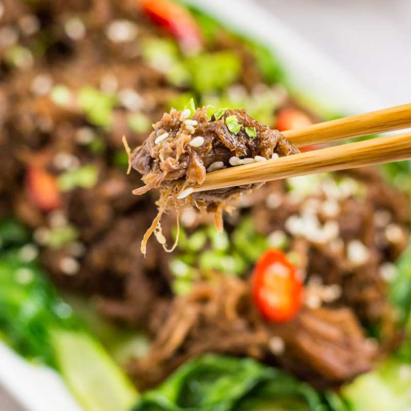 Keto Asian Shredded Beef Recipe