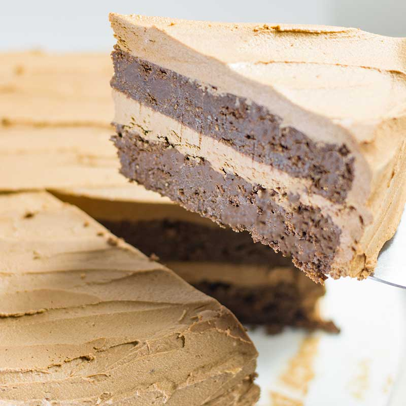 Keto Chocolate Cake Layered