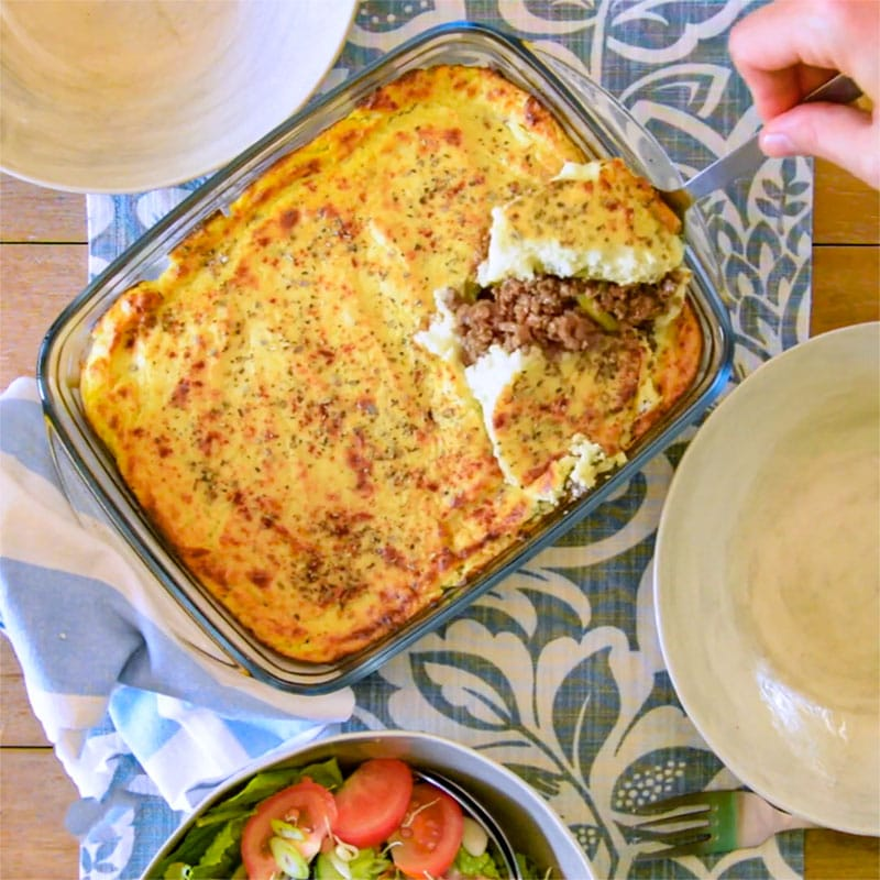 Keto Cottage Pie Recipe with Caulliflower Mash