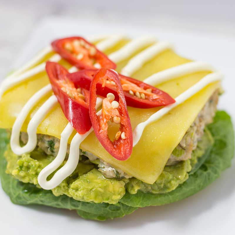 Keto Mexican Chicken Burgers
