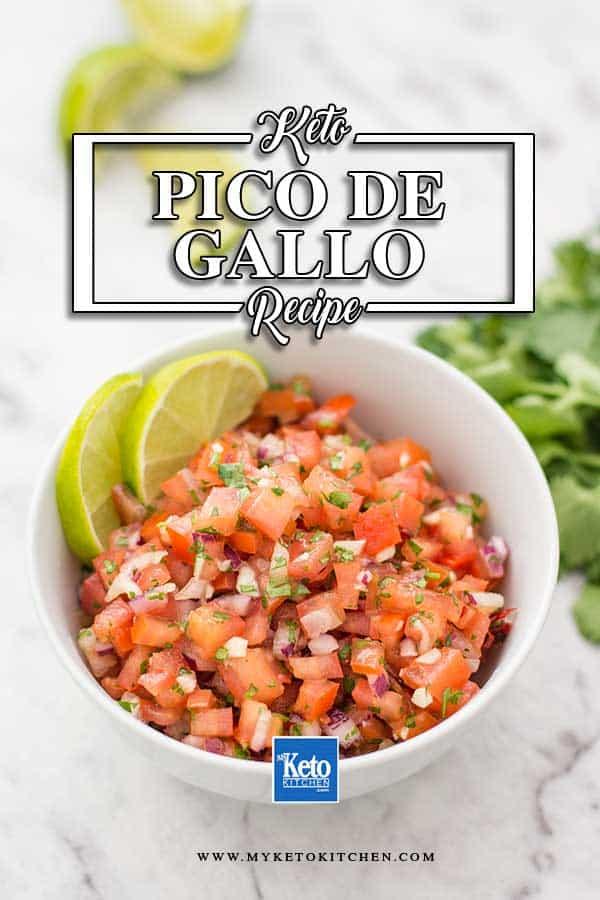 Low Carb Pico De Gallo - simple Mexican Salsa recipe
