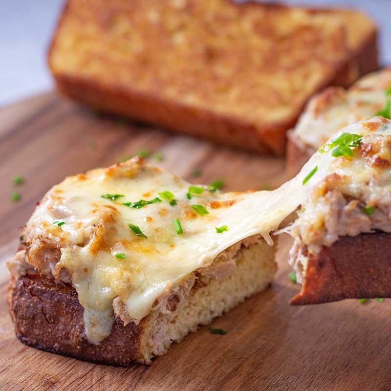 How to make a Keto Tuna Melt - gooey, cheesy melt recipe