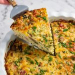 Keto Cauliflower Rice Pie - delicious low carb and gluten free casserole recipe
