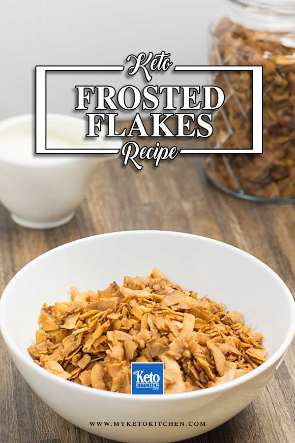 Keto Frosted Flakes in a bowl