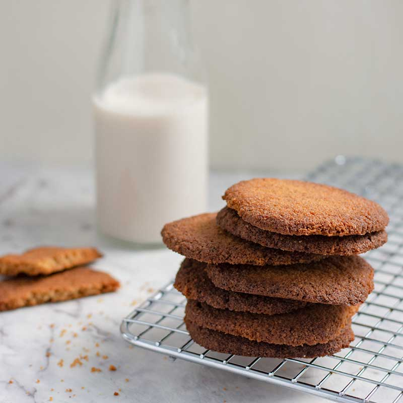 Keto Ginger Snap Cookies