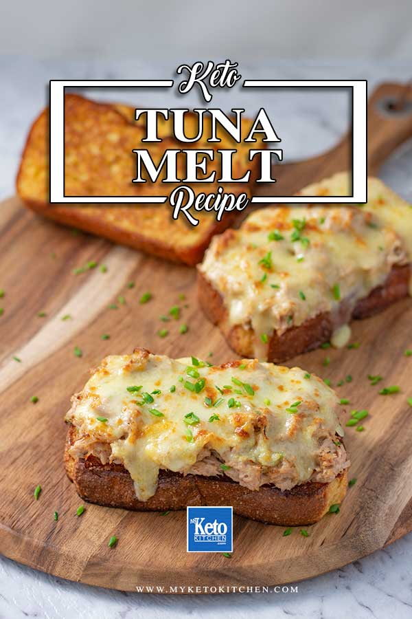 Low Carb Tuna Melt - gooey, cheesy melt recipe