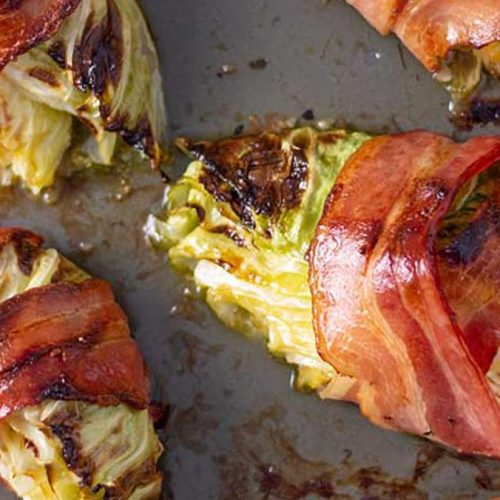 Bacon Wrapped Cabbage