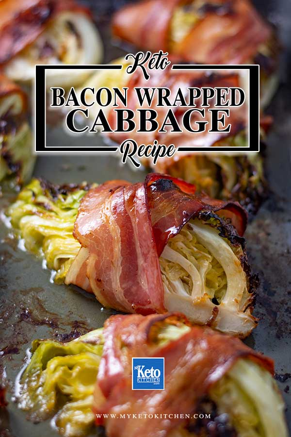 Crispy Bacon Wrapped Cabbage - easy keto, gluten free side dish recipe