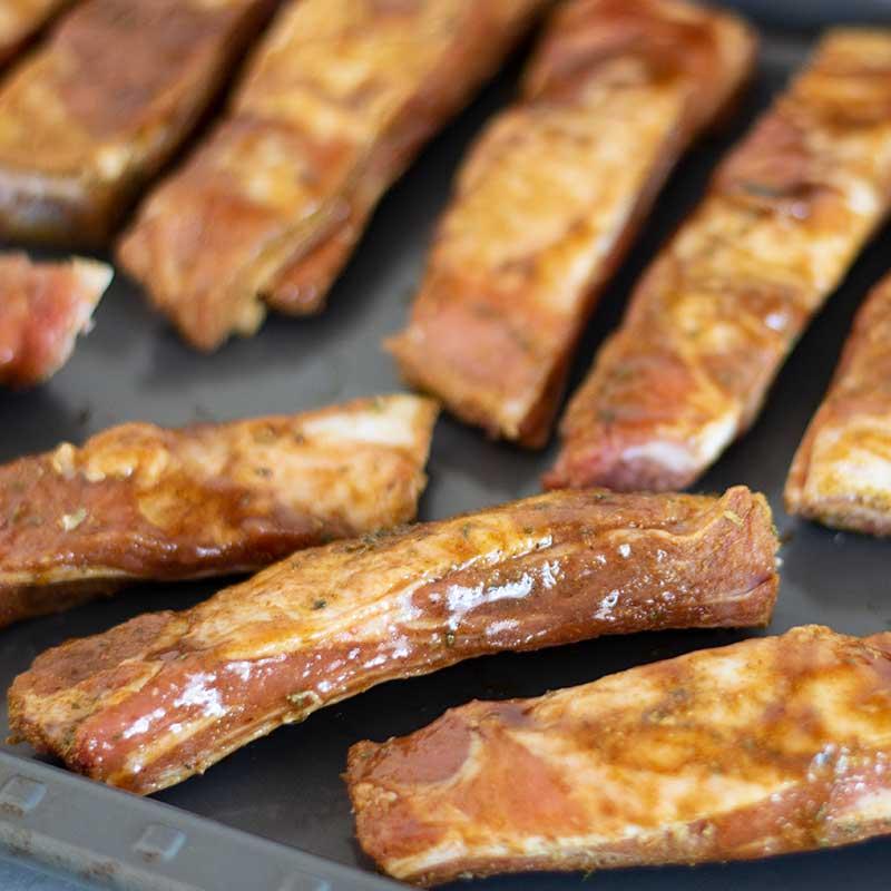 How to make Keto BBQ Lamb Riblets - sticky ribs recipe