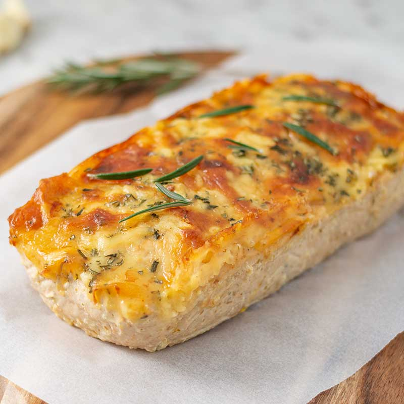 How to make Keto Cheesy Chicken Meatloaf - easy dinner recipe