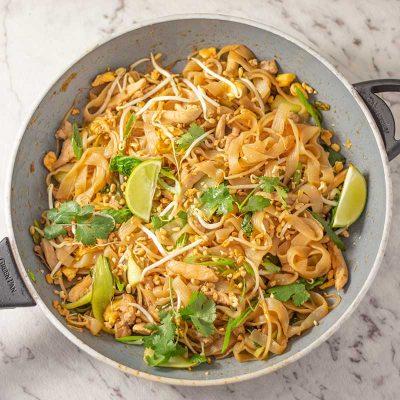 Keto Pad Thai Recipe – Low Carb Chicken Stir Fry Noodles