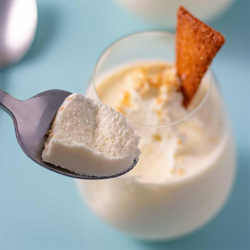 How to make Keto Vanilla Mousse - easy sugar free dessert recipe