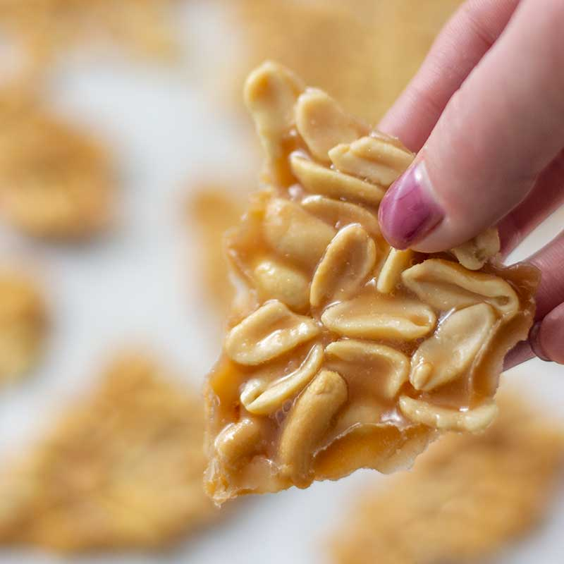 How to make Keto Peanut Brittle - delicious sugar-free candy recipe