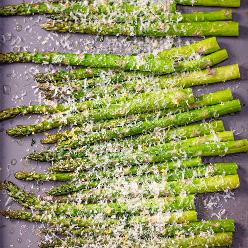 How to make Keto Roasted Asparagus - easy side dish recipe