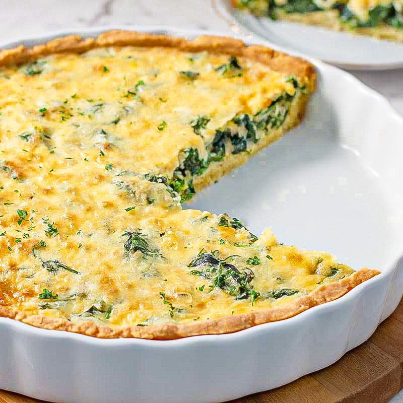 How to make keto spinach quiche low-carb