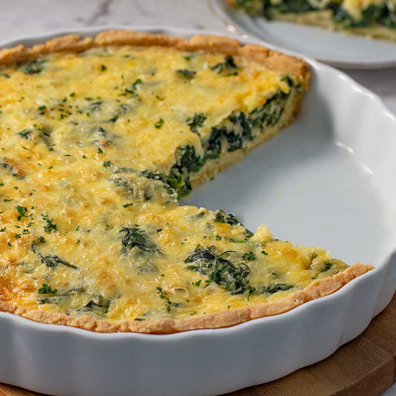 How to make Keto Spinach Quiche - easy vegetarian recipe