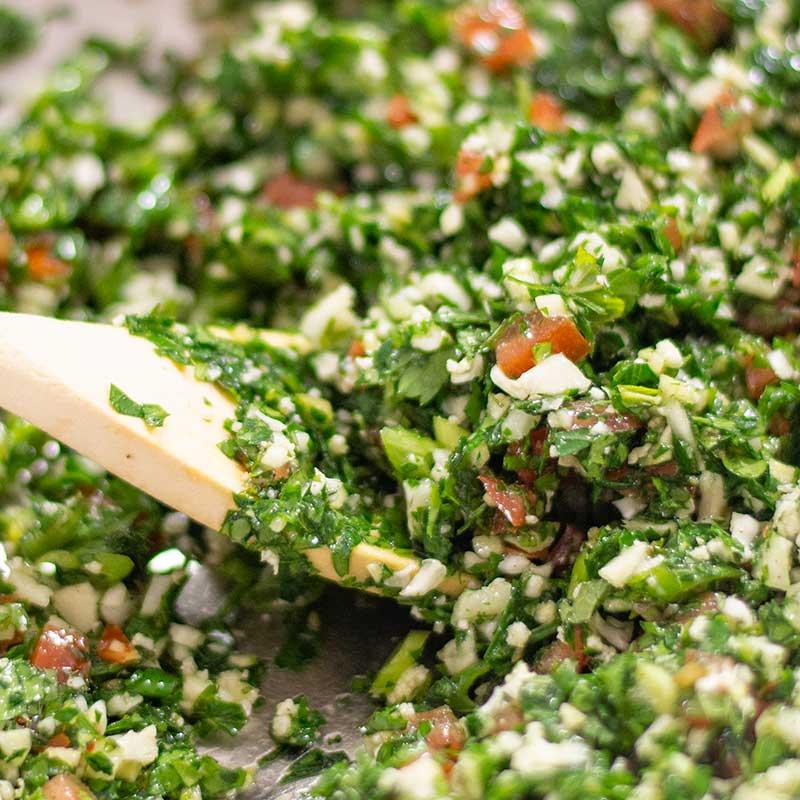 How to make Keto Tabbouleh Salad - easy Lebanese salad recipe