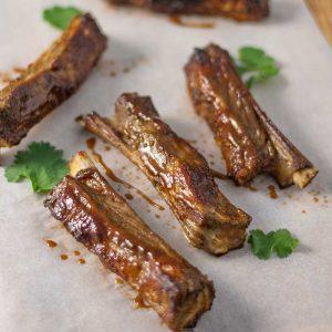 Keto BBQ Lamb Riblets - sticky ribs recipe