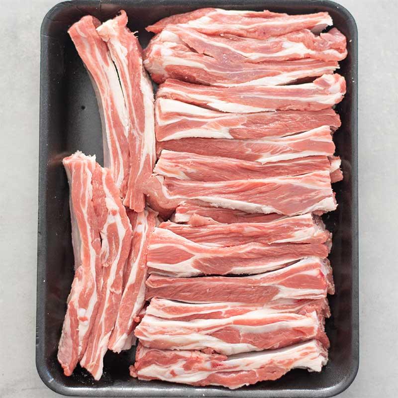 Keto BBQ Lamb Riblets Ingredients - sticky ribs recipe